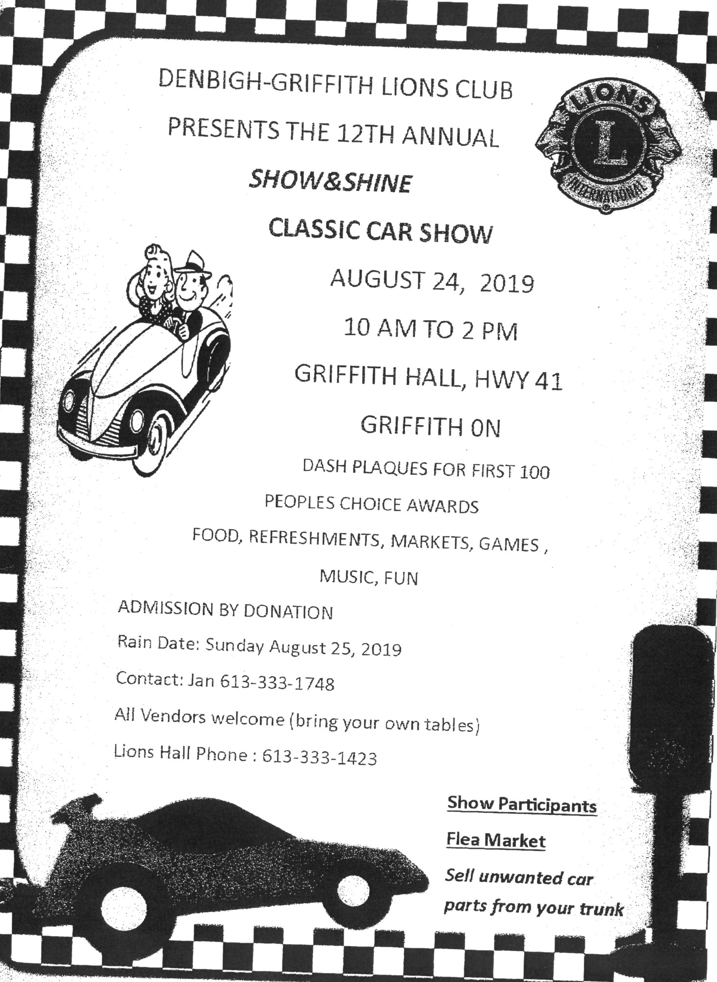 Show&Shine Classic Car show - Griffith, ON - [ CHIPFM 101,9]