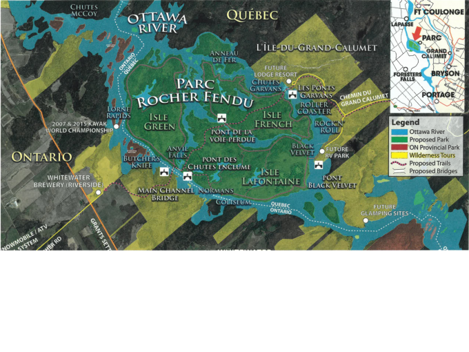 Carte du projet de parc national